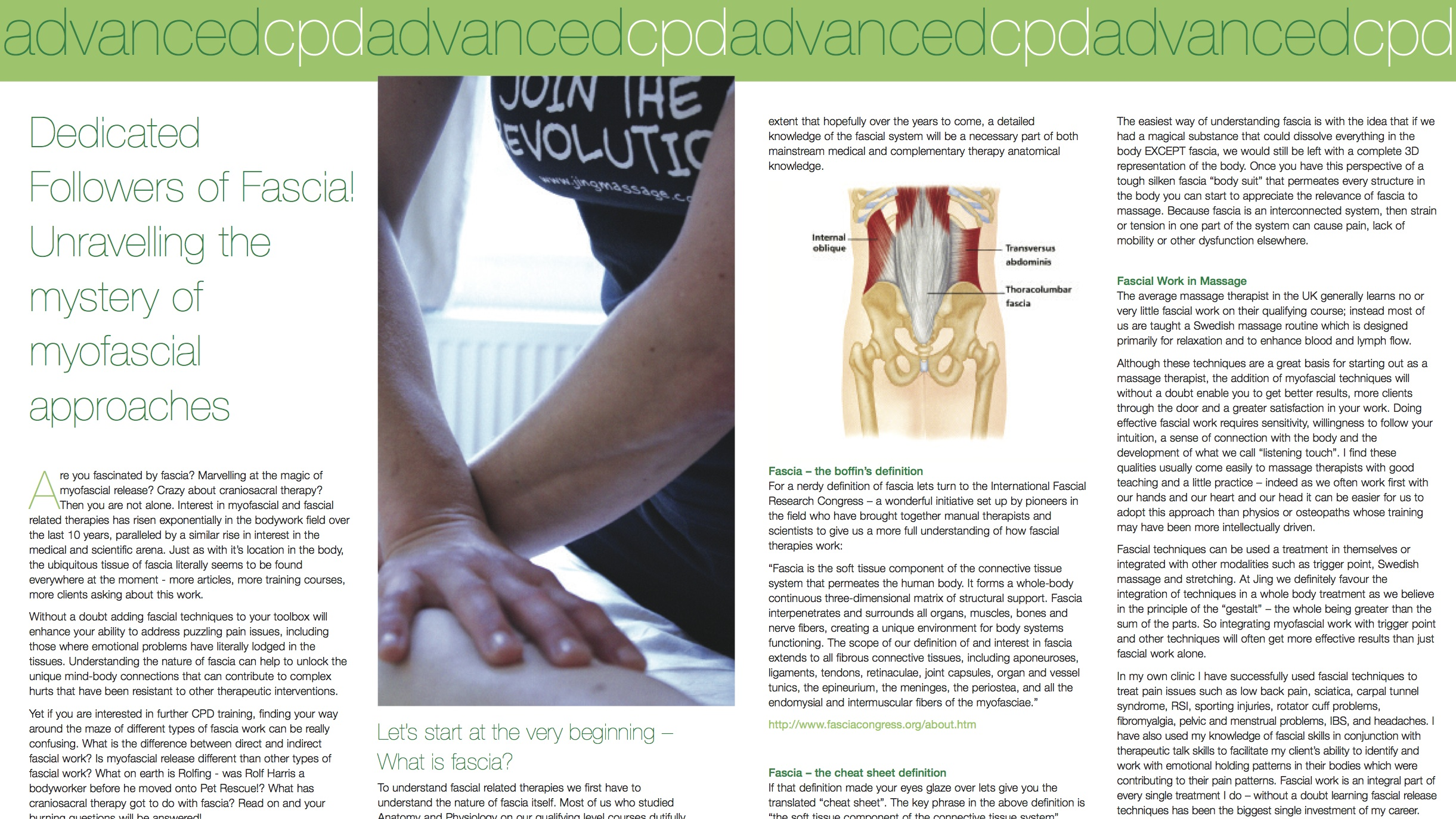 Dedicated Followers of Fascia! Unravelling the mystery of myofascial ...