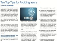 Ten top tips for avoiding injury