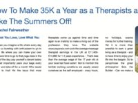 How to make 35K a year and take the summers off!