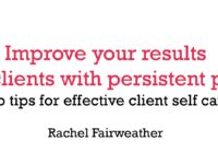 Improve your results for clients with persistent pain