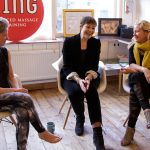 From left to right: Jing Director, Rachel Fairweather, Green MP Caroline Lucas, and Jing Director, Meghan Mari.