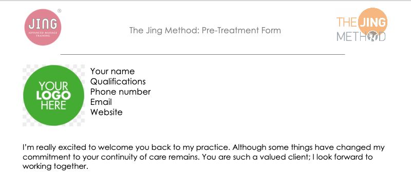 The Jing Method: Online Pre Treatment Screening and Consultation
